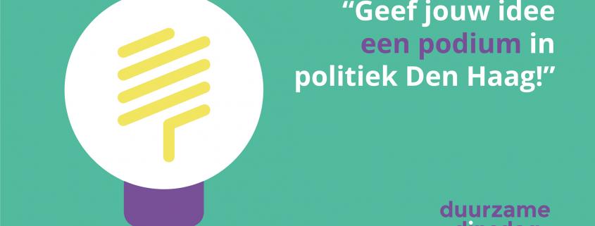 DuurzameDinsdag Podium Politiek Den Haag