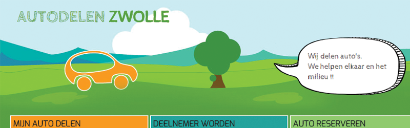 Maatschappelijk initiatief Autodelen Zwolle